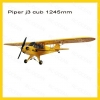 Dynam DY8927 Piper j3 cub 1245mm yellow (PNP, w/o Tx, Rx, battery and Charger)